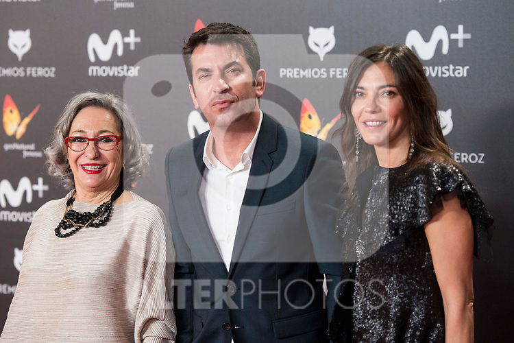 Luisa Gavasa and Arturo Valls attends red carpet of Feroz Awards 2018 at Magarinos Complex in Madrid, Spain. January 22, 2018. (ALTERPHOTOS/Borja B.Hojas)