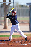 Saul Gonzalez (50), from Monroe, Washington, while playing for the Astros during the Under Armour Baseball Factory Recruiting Classic at Red Mountain Baseball Complex on December 29, 2017 in Mesa, Arizona. (Zachary Lucy/Four Seam Images)