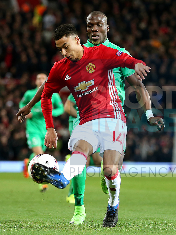 Jesse Lingard of Manchester United during the UEFA Europa League Round of 32 1st leg match at Old Trafford Stadium, Manchester. Picture date: February 16th, 2017. Pic credit should read: Matt McNulty/Sportimage