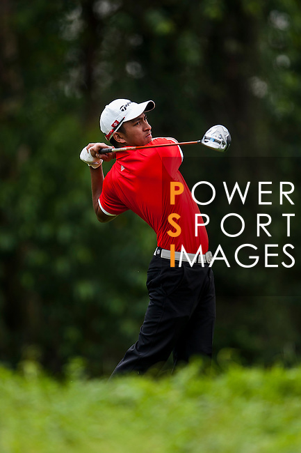 Leon Phillip D'Souza of Hong Kong in action at the 9th Faldo Series Asia Grand Final 2014 golf tournament on March 18, 2015 at Faldo course in Mid Valley clubhouse in Shenzhen, China. Photo by Xaume Olleros / Power Sport Images