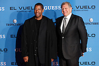 Actor Denzel Washington and director Robert Zemeckis  attends the 'Flight' (El Vuelo) premiere at the Capitol cinema. January 22, 2013. (ALTERPHOTOS/Caro Marin) /NortePhoto