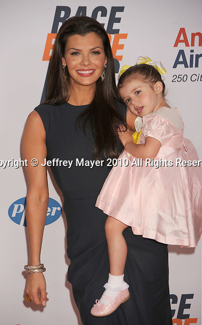 CENTURY CITY, CA. - May 07: Ali Landry and her daughter Estela Monteverde arrive to the 17th Annual Race To Erase MS held at Hyatt Regency Century Plaza on May 7, 2010 in Century City, California.