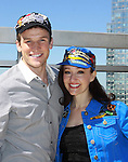 """Claybourne Elder & Melissa van der Schyff - Bonnie & Clyde's """"Buck & Blanche""""  at Promo shoot for the annual Broadway Extravaganza in honor of Jane Elissa's Candidacy for Leukemia & Lymphoma Society Woman of the Year and for Hats for Health on April 23, 2012 at the Marriott Marquis Hotel, New York City, New York. In the shoot are Days of Our Lives Louise Sorel """"Vivian"""", Broadway Bonnie and Clyde's Melissa VanDer Schyff and Clay Elder, Dale Badway (Creator Fame-Wall) and host for the upcoming event, Corey Brunish (producer of Bonnie & Clyde) and Billy Freda, singer songwriter Missy Modell (Photo by Sue Coflin/Max Photos)"""