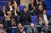 17. Sitzung des Deutschen Bundestag am Donnerstag den 1. Maerz 2018.<br /> Im Bild: Stephan Brandner von der rechtsnationalistischen &quot;Alternative fuer Deutschland&quot;, AfD, redet zum Tagesordnungspunkt &quot;Zustaendigkeit des Bundes bei der Gefahrenabwehr&quot;.<br /> Brandtner veroeffentlichte ueber den Kurznachrichtendienst Twitter ein Foto mit einer Machete und fragte, wie er sie &quot;kuenstlerisch&quot; gegen &quot;Antifa&quot; einsetzen koenne und Bundesjustizminister Heiko Maas nannte er ein &bdquo;Ergebnis politischer Inzucht&quot;. Seit 31. Januar 2018 ist Brandner Vorsitzender des Rechtsausschusses des Bundestages.<br /> 1.3.2018, Berlin<br /> Copyright: Christian-Ditsch.de<br /> [Inhaltsveraendernde Manipulation des Fotos nur nach ausdruecklicher Genehmigung des Fotografen. Vereinbarungen ueber Abtretung von Persoenlichkeitsrechten/Model Release der abgebildeten Person/Personen liegen nicht vor. NO MODEL RELEASE! Nur fuer Redaktionelle Zwecke. Don't publish without copyright Christian-Ditsch.de, Veroeffentlichung nur mit Fotografennennung, sowie gegen Honorar, MwSt. und Beleg. Konto: I N G - D i B a, IBAN DE58500105175400192269, BIC INGDDEFFXXX, Kontakt: post@christian-ditsch.de<br /> Bei der Bearbeitung der Dateiinformationen darf die Urheberkennzeichnung in den EXIF- und  IPTC-Daten nicht entfernt werden, diese sind in digitalen Medien nach &sect;95c UrhG rechtlich geschuetzt. Der Urhebervermerk wird gemaess &sect;13 UrhG verlangt.]