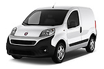 2017 Fiat Fiorino Pack 4 Door Car Van Angular Front stock photos of front three quarter view