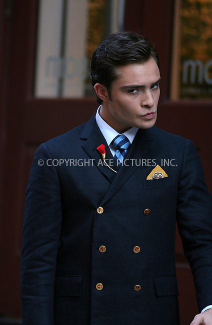 WWW.ACEPIXS.COM ************....July 9 2009, New York City....Actor Ed Westwick on the set of the TV show 'Gossip Girl' in Soho on July 9 2009 in New York City......Please byline: PHILIP VAUGHAN - ACEPIXS.COM.. *** ***  ..Ace Pictures, Inc:  ..tel: (646) 769 0430..e-mail: info@acepixs.com..web: http://www.acepixs.com