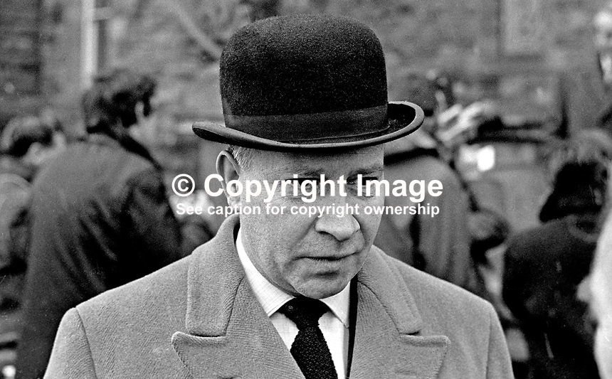 Robert Porter, QC, Barrister, Ulster Unionist, MP, Queen's University, Parliament, Stormont, N Ireland, UK. He was the last holder of the seat as university seats were abolished in 1969. 196804000126..<br /> <br /> Copyright Image from Victor Patterson, 54 Dorchester Park, Belfast, UK, BT9 6RJ<br /> <br /> t1: +44 28 9066 1296 (from Rep of Ireland 048 9066 1296)<br /> t2: +44 28 9002 2446 (from Rep of Ireland 048 9002 2446)<br /> m: +44 7802 353836<br /> <br /> e1: victorpatterson@me.com<br /> e2: victorpatterson@gmail.com<br /> <br /> The use of my copyright images is subject to my Terms &amp; Conditions.<br /> <br /> It is IMPORTANT that you familiarise yourself with them. They are available on my website at www.victorpatterson.com.<br /> <br /> None of my copyright images may be used on a website unless they are visibly watermarked, i.e. &copy; Victor Patterson within the body of the visible image. Metadata denoting my copyright must NOT be deleted. <br /> <br /> Web use is extra at currently recommended NUJ rates.