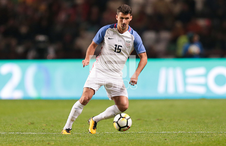 Leiria, Portugal - Tuesday November 14, 2017: Eric Lichaj during an International friendly match between the United States (USA) and Portugal (POR) at Estádio Dr. Magalhães Pessoa.