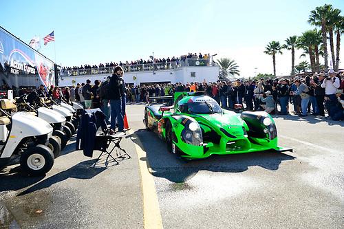 28-31  January, 2016, Daytona Beach, Florida USA<br /> 2, Honda HPD, Ligier JS P2, P, Scott Sharp, Ed Brown, Joannes van Overbeek, Luis Felipe Derani<br /> ©2016, Richard Dole<br /> LAT Photo USA
