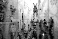 The temple of Exu is seen at the temple of Mae Susana Andrade. Exu a controversial image in the Umbanda religion, has a different temple from other goddess, Orixas. Exu is represented by a similar image of the Devil. Photo by Quique Kierszenbaum.