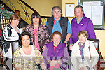 Ellen Harrington Kilgarvan who celebrated her 85th birthday in Lord Kenmare's restaurant Killarney on Thursday night front row l-r: Geraldine, Ellen Harriington, Eileen Hickey. Back row: Margaret O'Sullivan, Mary Dennehy, Denis Harrington and Frank Doran.