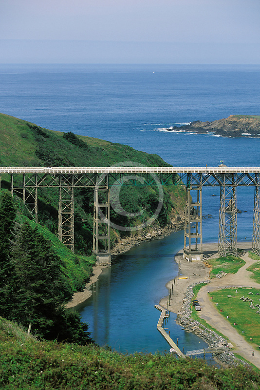 California, Mendocino County, Albion River Bridge