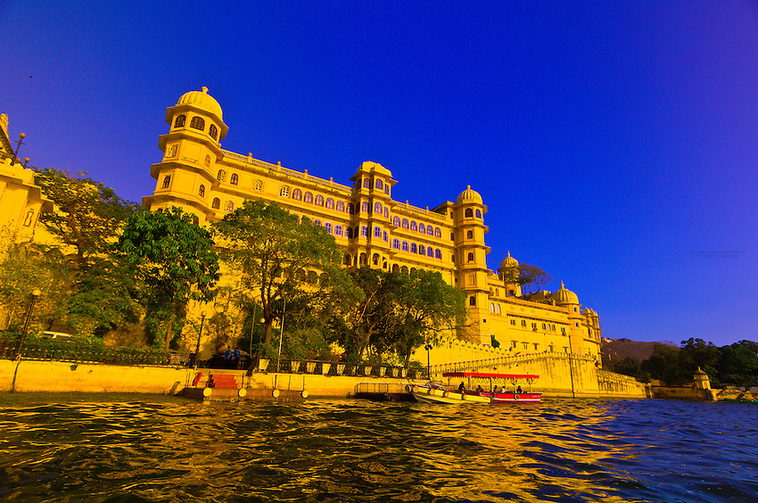 City Palace from Lake Pichola, Udaipur, Rajasthan, India