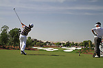 Rory McIlroy tees off on the par3 4th hole during  Day 3 at the Dubai World Championship Golf in Jumeirah, Earth Course, Golf Estates, Dubai  UAE, 21st November 2009 (Photo by Eoin Clarke/GOLFFILE)