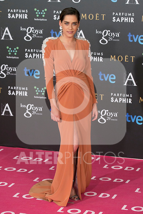 Maria Leon attend the 2015 Goya Awards at Auditorium Hotel, Madrid,  Spain. February 07, 2015.(ALTERPHOTOS/)Carlos Dafonte)