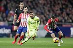 (L to R) Club Atletico de Madrid's Koke Resurreccion and Angel Correa Futbol Club Barcelona's Leo Messi  during La Liga match. November 24,2018. (ALTERPHOTOS/Alconada)
