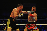 Robbie Davies Jnr defeats Glenn Foot during a Boxing Show at the Metro Radio Arena on 13th October 2018