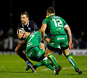 9th February 2018, Galway Sportsground, Galway, Ireland; Guinness Pro14 rugby, Connacht versus Ospreys; Ashley Beck (Ospreys) gets away from Naulia Dawai (Connacht)