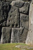 Sacsayhuaman, Cuzco, Peru - Stonework in Fortress Wall
