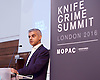 Sadia Khan addresses the first Knife Crime Summit <br /> London 2016 <br /> MOPAC <br /> at Friend's Meeting House, London, Great Britain <br /> 13th October 2016 <br /> <br /> Sadiq Khan <br /> Mayor of London <br /> <br /> <br /> <br /> Photograph by Elliott Franks <br /> Image licensed to Elliott Franks Photography Services