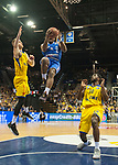 10.02.2018, EWE Arena, Oldenburg, GER, BBL, EWE Baskets Oldenburg vs Rockets Erfurt, im Bild<br /> Marko BACAK (EWE Baskets Oldenburg #13)<br /> Frantz MASSENNAT (EWE Baskets Oldenburg #10)<br /> Retin OBASOHAN (Rockets Erfurt #0 )<br /> Foto &copy; nordphoto / Rojahn