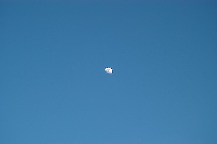 AJ Alexander - Moon in Daylight over Phoenix, Arizona.Photo by AJ Alexander
