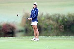CHAPEL HILL, NC - OCTOBER 15: North Carolina's Mariana Ocano on the 9th green. The third and final round of the Ruth's Chris Tar Heel Invitational Women's Golf Tournament was held on October 15, 2017, at the UNC Finley Golf Course in Chapel Hill, NC.