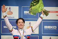 2014 Womens Elite World Champion Marianne Vos (NLD)<br /> <br /> 2014 UCI cyclo-cross World Championships, Elite Women