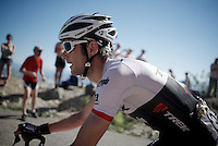 Frank Schleck (LUX/Trek-Segafredo) up the Lacets du Grand Colombier (Cat1/891m/8.4km/7.6%)<br /> <br /> stage 15: Bourg-en-Bresse to Culoz (160km)<br /> 103rd Tour de France 2016