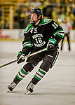 24 October 2015: University of North Dakota Forward Brock Boeser, a Freshman from Burnsville, MN, in first period action against the University of Vermont Catamounts at Gutterson Fieldhouse in Burlington, Vermont. North Dakota defeated the Catamounts 5-2 in the second game of their weekend series. Mandatory Credit: Ed Wolfstein Photo *** RAW (NEF) Image File Available ***