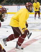 Jake Hendrickson (Duluth - 15) - The University of Minnesota-Duluth Bulldogs practiced on Friday morning, April 8, 2011, during the 2011 Frozen Four at the Xcel Energy Center in St. Paul, Minnesota.