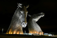 WWF's Earth Hour at The Kelpies, Falkirk<br /> <br /> Earth Hour is an annual global celebration where people and iconic landmarks switch off their lights for one hour to show they care about the future of our planet .<br /> <br /> At 8.30pm the lights went off across the planet on participating buildings and monuments. Lights at the Kelpies switched off and people gathered to enjoy a mass Yoga pose during Earth Hour. The lights went back on at 9.30pm.<br /> <br /> <br /> Pic- Lights Off at the Kelpies<br /> <br /> First use of picture supplied courtesy of WWF UK<br /> Please Credit - John Linton/WWF<br /> &copy; John Linton 2016<br /> 07986592673<br /> lintonpix.com