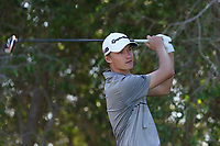 Rasmus Hojgaard (DEN) on the 5th tee during Round 2 of the Abu Dhabi HSBC Championship 2020 at the Abu Dhabi Golf Club, Abu Dhabi, United Arab Emirates. 17/01/2020<br /> Picture: Golffile   Thos Caffrey<br /> <br /> <br /> All photo usage must carry mandatory copyright credit (© Golffile   Thos Caffrey)