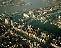 Januari 1999. Willem- en Bonapartedok in Antwerpen.