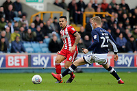 Nico Yennaris of Brentford passes the ball upfield during Millwall vs Brentford, Sky Bet EFL Championship Football at The Den on 10th March 2018