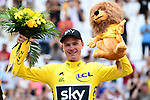 Race leader Yellow Jersey Chris Froome (GBR) Team Sky finishes Stage 20 in 3rd place to ensure his 4th Tour win of the 104th edition of the Tour de France 2017, an individual time trial running 22.5km from Marseille to Marseille, France. 22nd July 2017.<br /> Picture: ASO/Alex Broadway | Cyclefile<br /> <br /> <br /> All photos usage must carry mandatory copyright credit (&copy; Cyclefile | ASO/Alex Broadway)