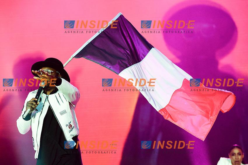 Will I am - William James Adams <br /> Parigi 09-06-2016 Champ de Mars <br /> Concerto apertura Campionati di Calcio Francia Euro 2016 <br /> Foto Panoramic / Insidefoto