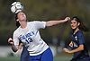 Kathryn Healy #13 of Calhoun makes a header during the Nassau County varsity girls soccer Class AA final against Massapequa at Cold Spring Harbor High School on Friday, Nov. 3, 2017.