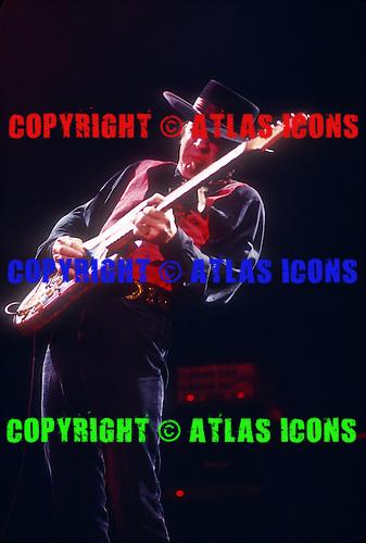 Stevie Ray Vaughan: New York City: On November 1, 1989 : <br /> Madison Square Garden<br /> Photo Credit: Eddie Malluk/Atlas Icons.com