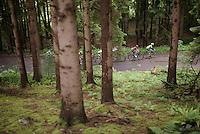 race leaders going up Le Rosier <br /> <br /> stage 4: Hotel Verviers - La Gileppe (Jalhay/BEL) 186km <br /> 30th Ster ZLM Toer 2016