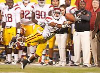 San Francisco, CA - October 13, 2011: USC wide receiver Robert Woods (2). Cal Bears vs USC at AT&T Park in San Francisco, California. Final score Cal Bears 9, USC 30.