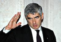 Roma 16 12 2004 Convegno sull'Antisemitismo<br /> Pier Ferdinando Casini Presidente della Camera<br /> Foto Serena Cremaschi Insidefoto
