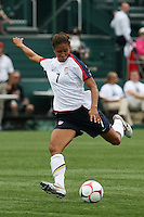 The U.S. Women's National Team defeated Canada 1-0 in a friendly match at Marina Auto Stadium in Rochester, NY on July 19, 2009. Abby Wambach of the USWNT scored her 100th career goal in the second half..