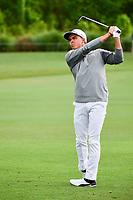 Rickie Fowler (USA) hits his approach shot on 10 during round 1 of the Shell Houston Open, Golf Club of Houston, Houston, Texas, USA. 3/30/2017.<br /> Picture: Golffile | Ken Murray<br /> <br /> <br /> All photo usage must carry mandatory copyright credit (&copy; Golffile | Ken Murray)