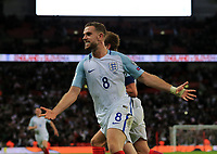 England Jordan Henderson celebrates Harry Kane's only goal for England during the FIFA World Cup 2018 Qualifying Group F match between England and Slovenia at Wembley Stadium on October 5th 2017 in London, England. <br /> Calcio Inghilterra - Slovenia Qualificazioni Mondiali <br /> Foto Phcimages/Panoramic/insidefoto