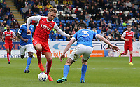 Fleetwood Town's David Ball takes on Peterborough United's Andrew Hughes<br /> <br /> Photographer David Shipman/CameraSport<br /> <br /> The EFL Sky Bet League One - Peterborough United v Fleetwood Town - Friday 14th April 2016 - ABAX Stadium  - Peterborough<br /> <br /> World Copyright &copy; 2017 CameraSport. All rights reserved. 43 Linden Ave. Countesthorpe. Leicester. England. LE8 5PG - Tel: +44 (0) 116 277 4147 - admin@camerasport.com - www.camerasport.com