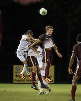 The Winthrop University Eagles played the College of Charleston Cougars at Eagles Field in Rock Hill, SC.  College of Charleston broke the 1-1 tie with a goal in the 88th minute to win 2-1.  Adam Purvis (13), Patrick Barnes (11)