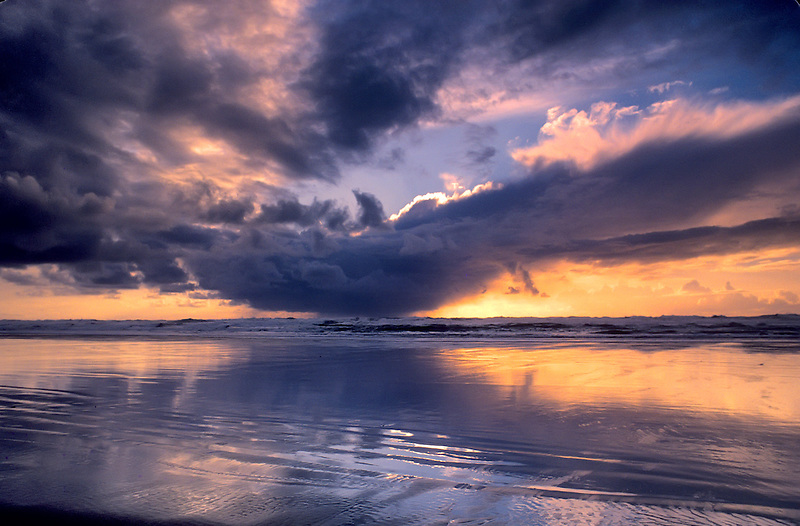 Coastal Sunset near Newport, Oregon.