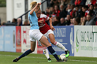 Katie McCabe of Arsenal Women and Esme Morgan of Manchester City Women during Arsenal Women vs Manchester City Women, FA Women's Super League Football at Meadow Park on 11th May 2019