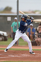 San Diego Padres second baseman Tucupita Marcano (67) during a Minor League Spring Training game against the Seattle Mariners at Peoria Sports Complex on March 24, 2018 in Peoria, Arizona. (Zachary Lucy/Four Seam Images)